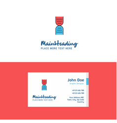 flat dna logo and visiting card template busienss vector image