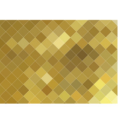 gold mosaic abstract geometric background vector image