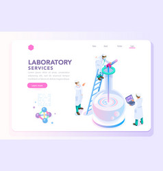 Health and beauty laboratory banner vector