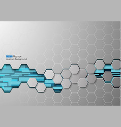 hexagons and rectangles 2 vector image