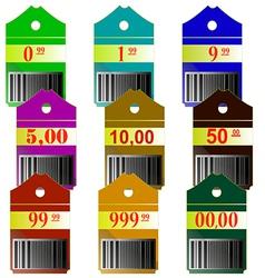 Label discount boutique price shop reduction by de vector