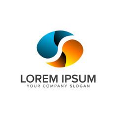 letter s logo ovale shape design concept template vector image