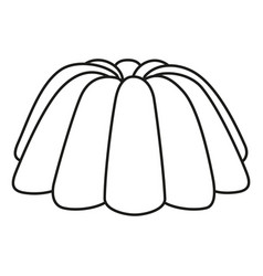Line art black and white jelly pudding vector