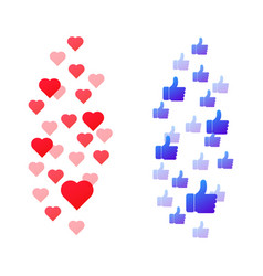 live like hearts vector image