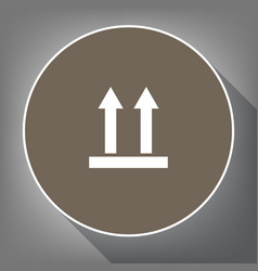 logistic sign of arrows white icon on vector image