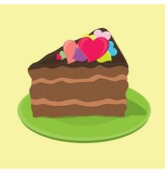 Love cake vector