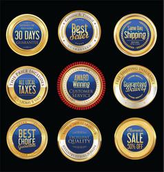 Luxury golden retro badges collection 09 vector