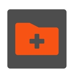 Medical Catalog Flat Button vector image