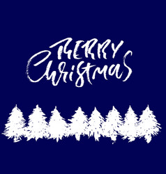 merry christmas holiday modern dry brush ink vector image