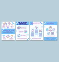 Messaging software benefit brochure template vector