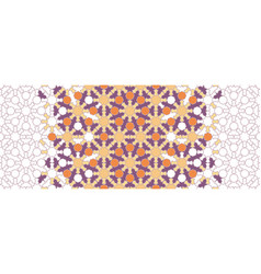 Moroccan arabesque decor geometric vector