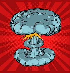 Nuclear explosion war vector