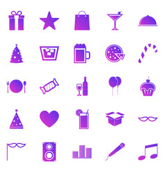party gradient icons on white background vector image