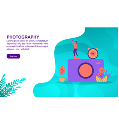 photography concept with character template for vector image
