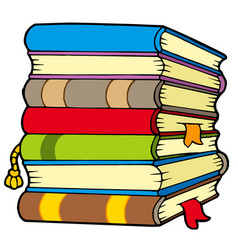 Pile books vector