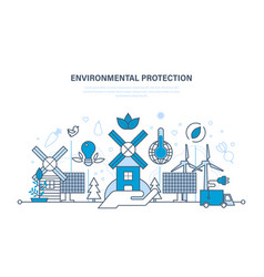 Protection of environment natural clean products vector