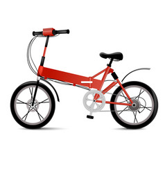 Realistic electric bicycle isolated on white vector