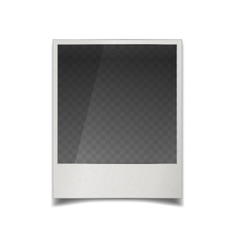 realistic instant film photo frame vector image