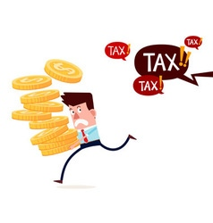 running away from paying taxes vector image