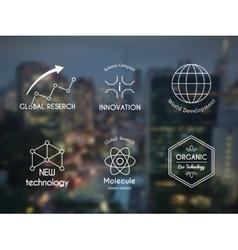science logo set vector image