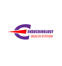 sign for endocrinology clinic vector image