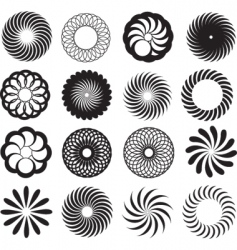 spirograph silhouettes vector image