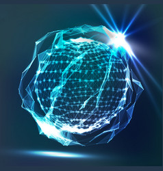 Splash of glowing particles futuristic cyber vector