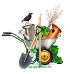 Spring garden tools vector