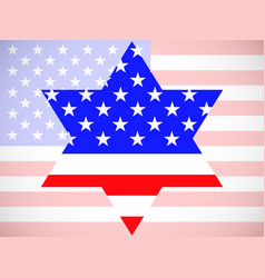 star david with america flag inside vector image