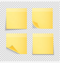 Sticky paper note on transparent background vector