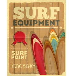 Surf Retro Poster vector image