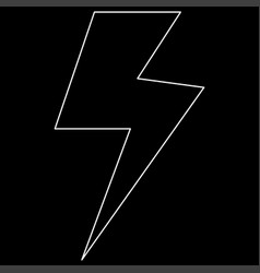 symbol electricity the white path icon vector image
