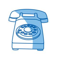 Telephone call talk retro device icon vector