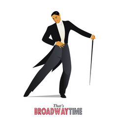 Thats broadway time-02 vector