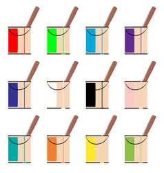 Tins of paint vector