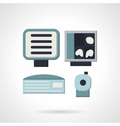 Ultrasound equipment flat icon vector