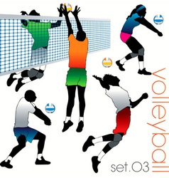 volleyball players set03 vector image