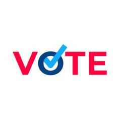 Vote check mark ballot vector