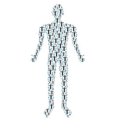 Weight comparing person human figure vector
