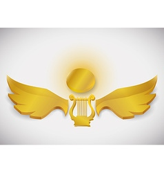Wings design vector image