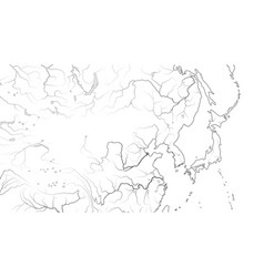 World map far east region japan korea china vector