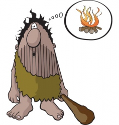 caveman with idea vector image vector image