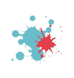 colored splashes in abstract shape design vector image vector image