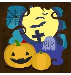 Halloween cartoon card vector image