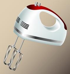 Kitchen hand mixer vector image