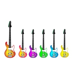 Lovely Heavy Metal Electric Guitars vector image vector image