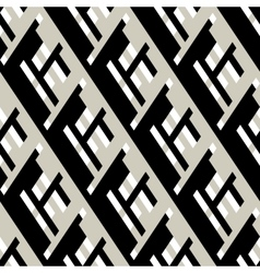 Bold pattern with architectural motifs vector image