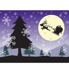 christmas wallpaper color vector image vector image