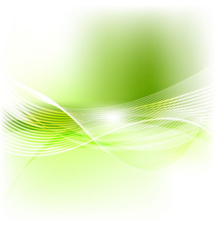 green abstract smooth blurred waves background vector image
