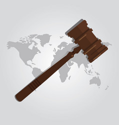 international law arbitration prosecution vector image